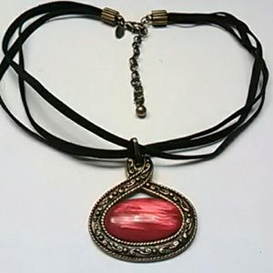 Chicos necklace with ruby stone